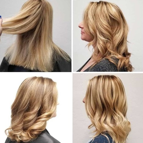 Dimensional Blonde Highlights For Gray Hair