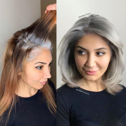 Platinum Gray Lob For Young