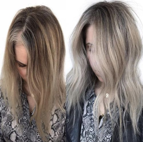 Dirty Blonde Haircolor For Grays