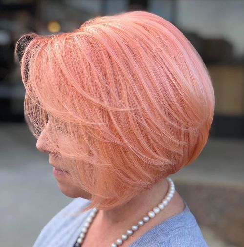 Graduated Soft Peach Bob