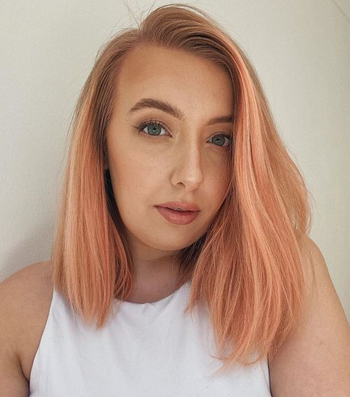Blorange Peach Long Bob