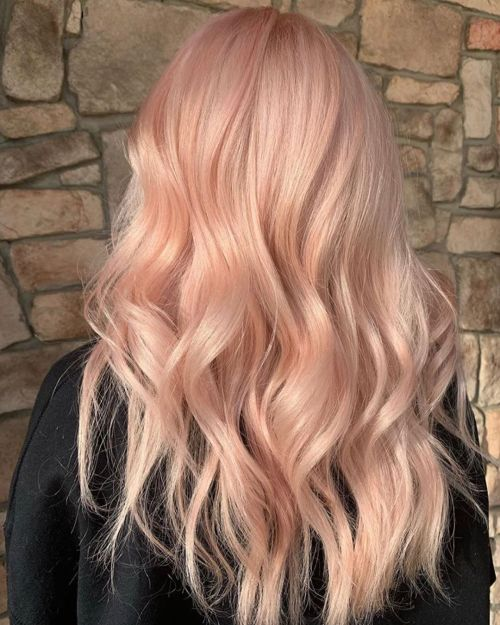 Long Milkshake Peach Hair