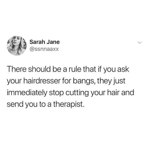 Haircut As A Therapy