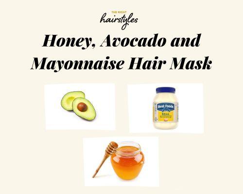 Honey Avocado and Mayonnaise Mask