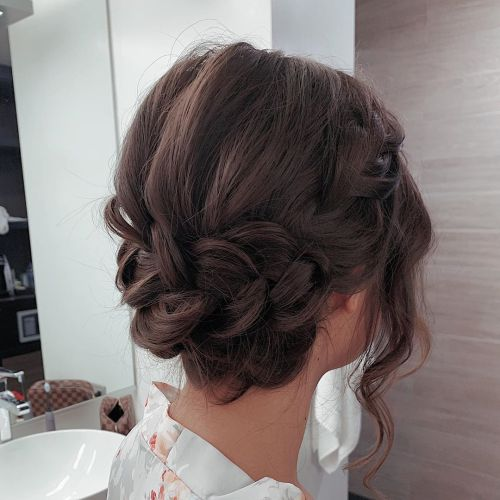 Chocolate French Braided Updo