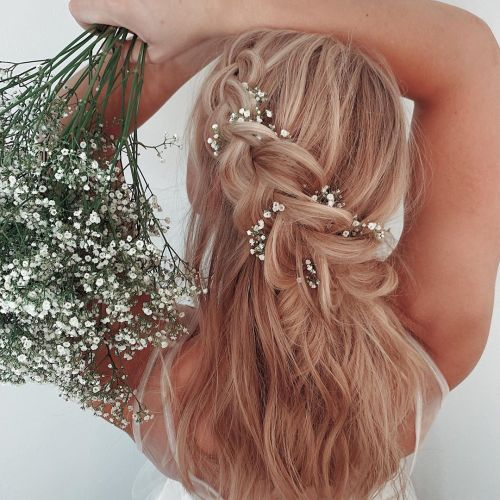 Large Dutch Side Braid With Baby Flowers