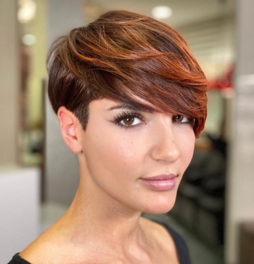 Pixie Undercut with Feathered Bangs