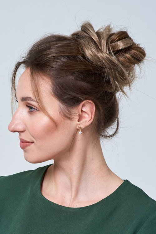 Chic Messy Bun for Thin Hair with Extensions