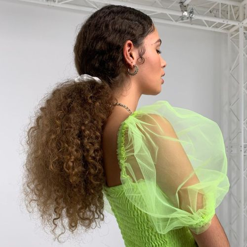 Natural Hair Ponytail with Styled Edges