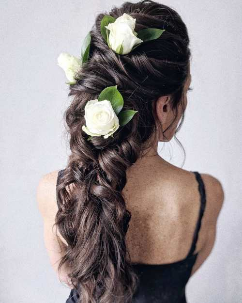 Bridal Braid with Roses