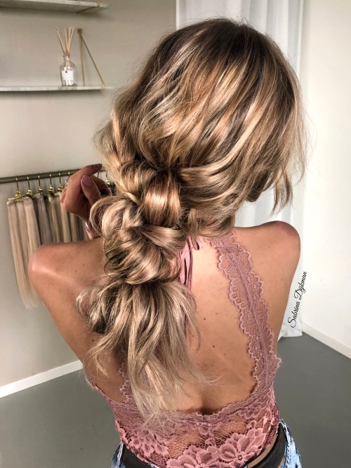Boho Hairstyle with Knots