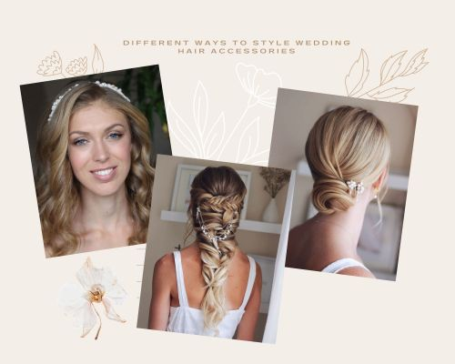 Bridal Hair Jewelry Collage