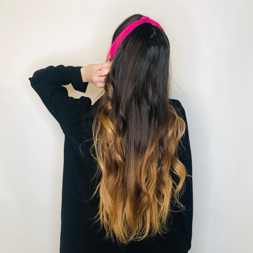Headband Hairstyle with a Scarf Knot on Top