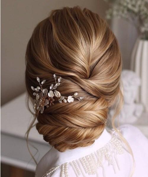 Wedding Hair with a Hair Comb