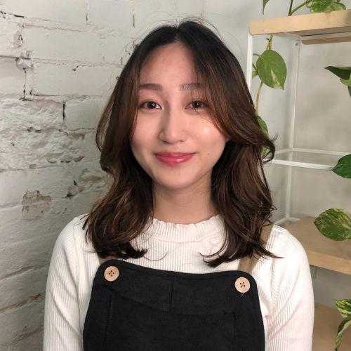 Asian Woman with Digitally Permed Hair