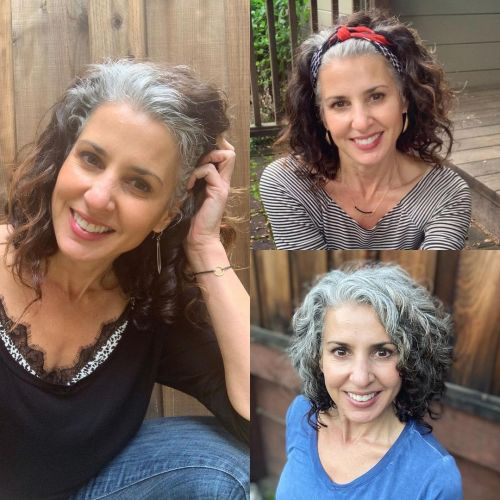 Head Scarf Hairstyle for Going Gray
