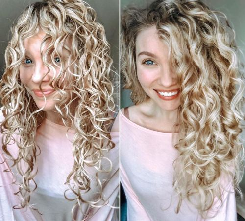 Curly Hair Before and After Breaking the Cast
