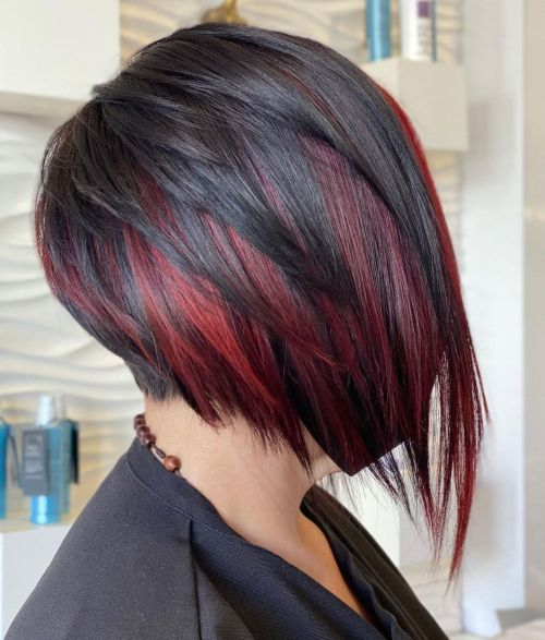 Feathered Inverted Bob with Undercut