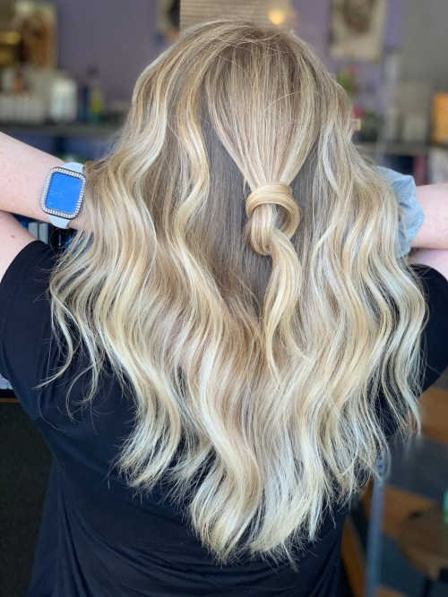 Blonde Balayage with Demi-Permanent Hair Color