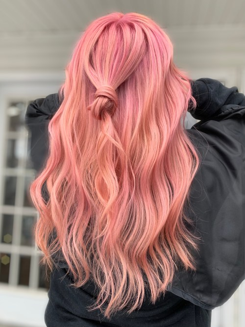 Semi-Permanent Pink Hair Color