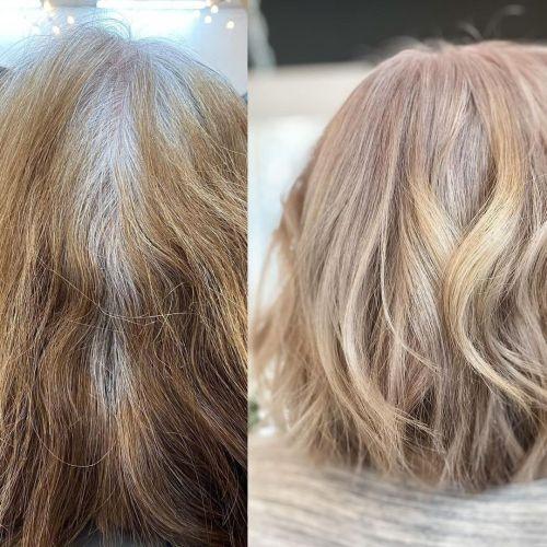 Mancha de cabelo para crescimento de cabelos grisalhos