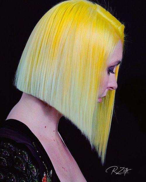 Canary to Pale Yellow Balayage