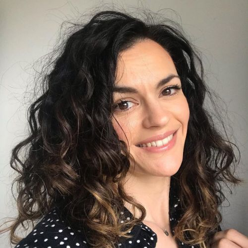 Functional Halo Frizz on Curly Hair