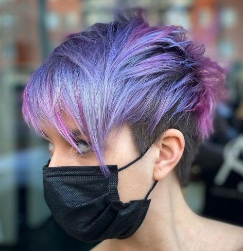 Pink and Purple Pixie with an Undercut