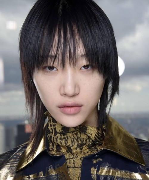 Korean Model with a Girl Mullet