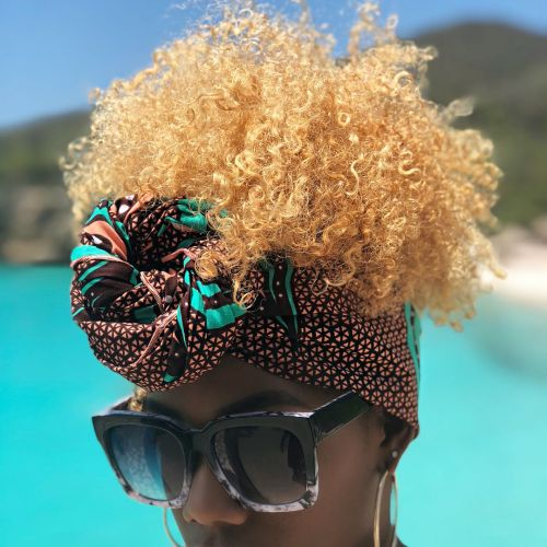 Pineapple with a Head Wrap
