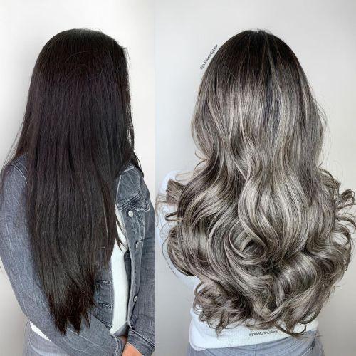 Brunette to Blonde Color Correction