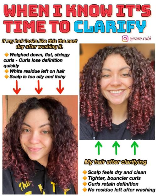 How to Know When It Is Time to Clarify Curly Hair