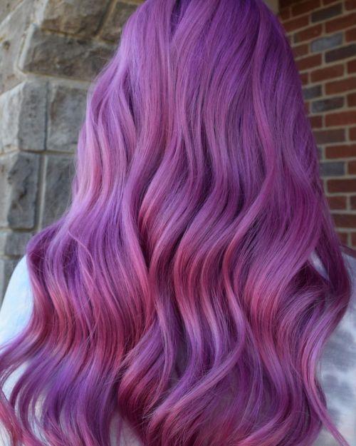 Vivid Lilac Hair Color
