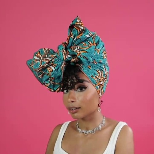Headwrap with a Large Bow