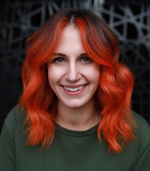 Black and Orange Red Hair Color
