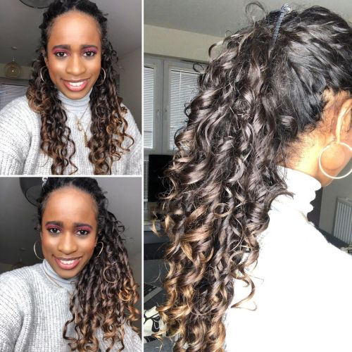 Hairstyle that Makes Ponytail Look Longer