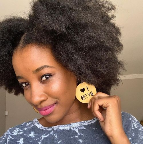Beautiful Black Woman with Afro