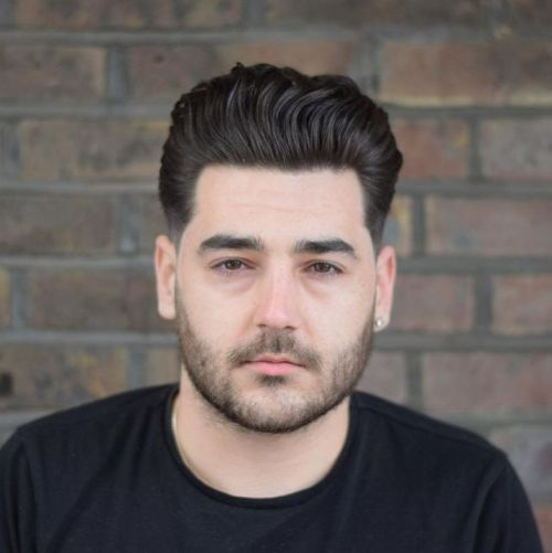 Quiff Hairstyle for Men with Thick Wavy Hair