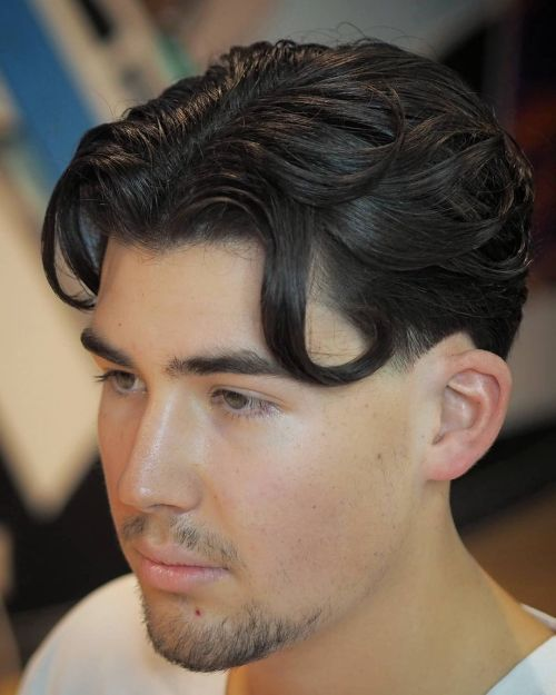 Middle Part Hairstyle for Men