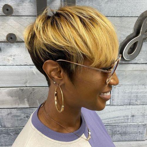 Honey Blonde Balayage on Short Hair