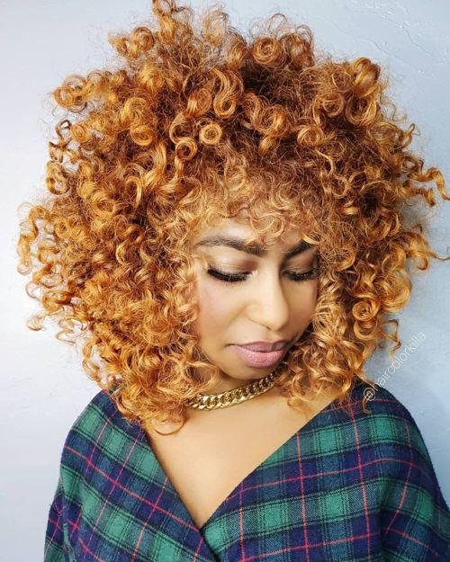 Bright Copper Afro Shag