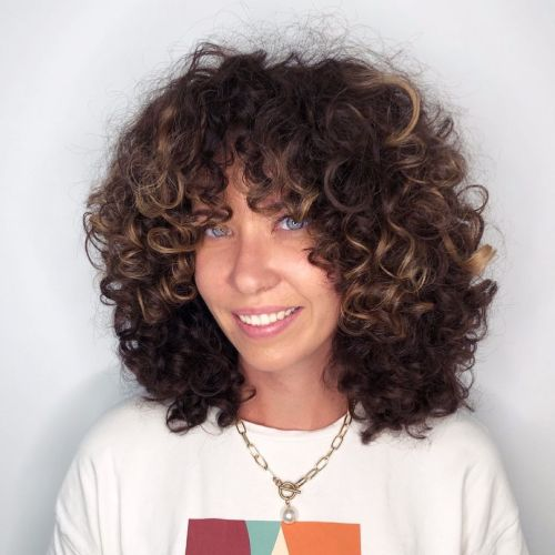Curly Bangs Hairstyle