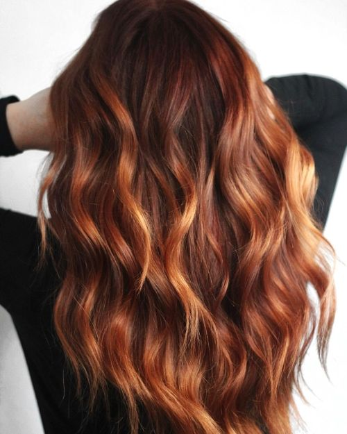 Dark Red to Auburn Hair Color