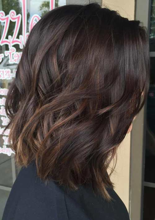 90 balayage hair color ideas with blonde brown and caramel highlights medium dark brown hair with subtle balayage pmusecretfo Image collections