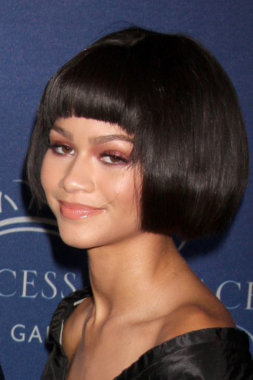 Zendaya Coleman bob with bangs for girls