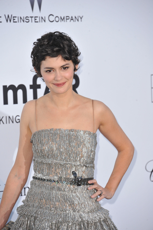 Audrey Tautou short haircut for curly hair