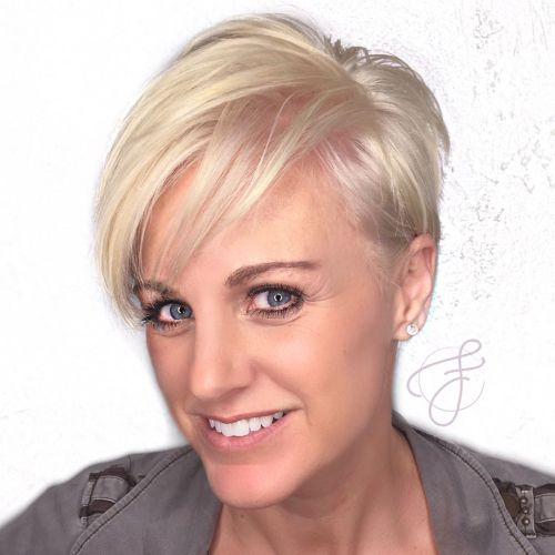 Pearl Blonde Pixie For Fine Hair