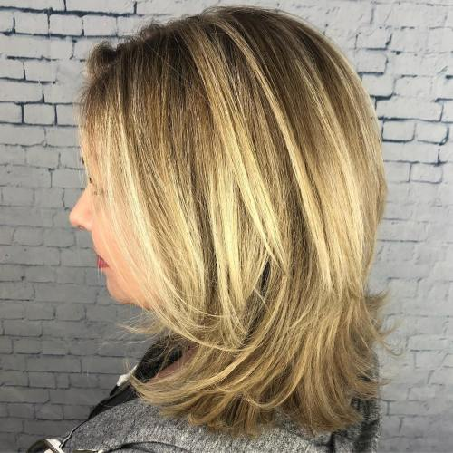Mid-Length Hair With Balayage