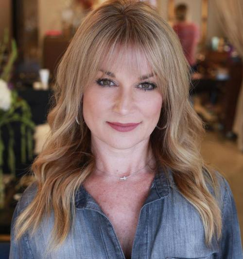 Long Hairstyle With Bangs For Women Over 40