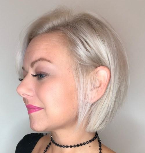 Platinum Bob For Fine Hair